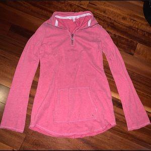 Pink Victoria's Secret Zip-Up Crew Neck